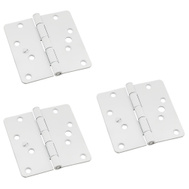 National Hardware N830-419 Security Stud 4 Inch 1/4 Radius Door Hinges White 3 Pack
