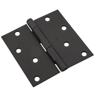 National Hardware N830-426 Door Hinge 4 Inch Square Corner Black
