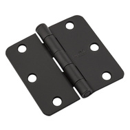 National Hardware N830-430 3 Inch 1/4 Radius Door Hinge Black