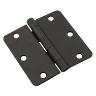 National Hardware N830-431 3-1/2 Inch 1/4 Radius Door Hinge Black