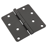 National Hardware N830-432 Door Hinge 4 Inch 1/4 Radius Black