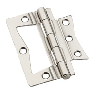 National Hardware N830-435 Bi-Fold Folding Door Non Mortise Door Hinges 3 Inch Satin Nickel On Steel 2 Pack
