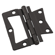 National Hardware N830-438 Bi-Fold Non Mortise Door Hinges 3-1/2 Inch Oil Rubbed Bronze On Steel 2 Pack