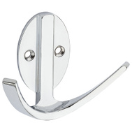 National Hardware N807-002 S807-065 Modern Double Robe Hook 3 Inch Chrome