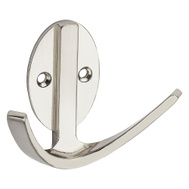 National Hardware N807-008 S807-032 Modern Double Robe Hook 3 Inch Satin Nickel