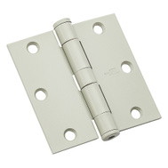 National Hardware N236-114 Commercial Door Hinge 3-1/2 Inch Square Corner Prime Coat White