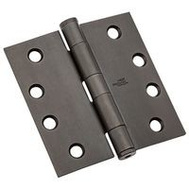 National Hardware N236-122 4 Inch Architectural Square Door Hinge Oil Rubbed Bronze