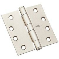 National Hardware N236-130 4 Inch Architectural Square Door Hinge Satin Nickel