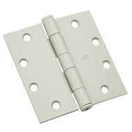 National Hardware N236-132 Commercial Door Hinge 4-1/2 Inch Square Corner Prime Coat White