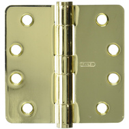 National Hardware N236-142 S820-803-3PK Stanley 4 Inch With 1/4 Radius Architectural Grade Template Door Hinge Bright Brass