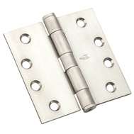 National Hardware N236-150 Commercial Door Hinge 4 Inch Square Corner Satin Stainless Steel