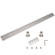 National Hardware N187-062 Sliding Door Hardware Track Extension Kit Satin Nickel