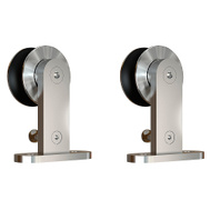 National Hardware N187-074 Sliding Door Hardware Top Mount Hangers Stainless Steel