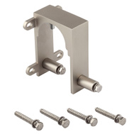 National Hardware N187-102 Sliding Door Hardware Bypass Bracket Satin Nickel