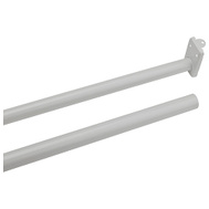 National Hardware N236-204 S193-040 Adjustable Closet Rod With Ends 48 Inch To 72 Inch Steel Painted White