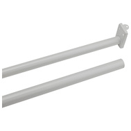 National Hardware N236-206 Adjustable Closet Rod With Metal Ends 48 Inch To 72 Inch White Painted Steel