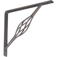 National Hardware N236-216 S250-595 Rustic Shelf Bracket 7 By 8 Inch Antique Bronze