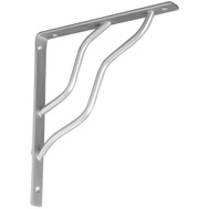 National Hardware N236-228 S250-597 Modern Shelf Bracket 7 By 8 Inch Satin Nickel