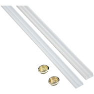 National Hardware N403-200 Plastic Track 1/4 Inch By 72 Inch White Plastic