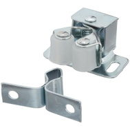 National Hardware N710-502 Double Roller Cabinet Catch Steel