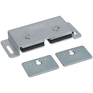 National Hardware N710-508 Double Magnetic Cabinet Catch Aluminum
