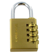 Wordlock PL-056-SL 4 Dial Brass Sports Padlock