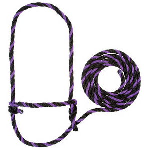 Weaver Leather 35-7901-PU/BK 7 Foot Cow Purp/BLK Halter