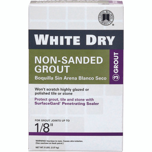 Custom Building Products WDG5-4 Tile Grout Non Sanded White 5 Pound
