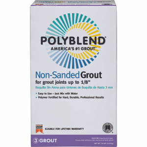 Custom Building Products PBG0910 Polyblend 10 Pound Natural Gray Grout