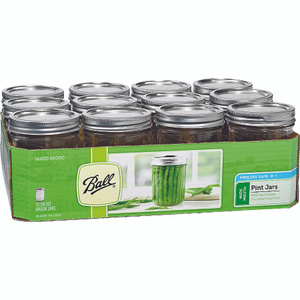Jarden 66000 Ball Pint Wide Mouth Canning Jars With Lids Pack Of 12