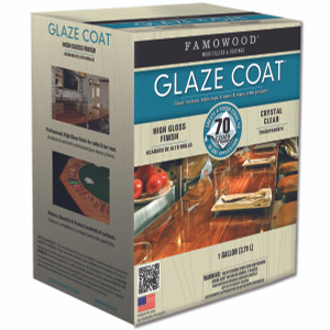 Eclectic 5050110 Famowood Coat Epoxy Glaze Hi Gloss Clear Gallon