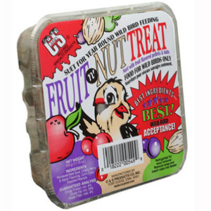 C & S 12549 11 3/4 Ounce Fruit Suet Cake