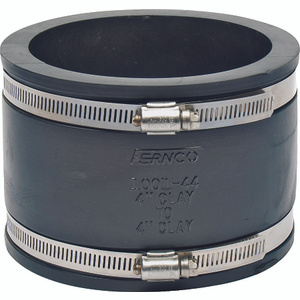 Fernco P1001-44 4 Inch Clay Pipe Coupling