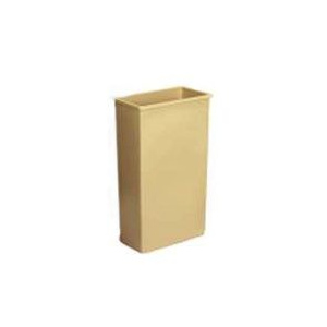 Continental Commercial 8323BE Wall Hugger Counter Wastebasket Beige