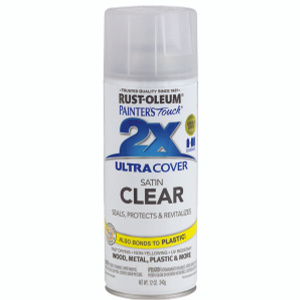 Rust Oleum 249845 Painters Touch 2X Clear Satin Ultra Cover Spray