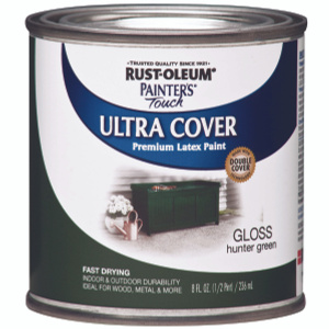Rust Oleum 1938730 Painters Touch Hunter Green Gloss Ultra Cover Enamel 1/2 Pint Water Based