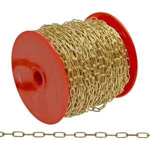 Cambell Chain 0710717 Campbell 7 Brass Plated Clock Chain 82 Foot