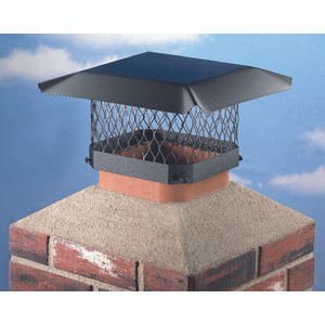 Hy C SC1313 Shelter 13 By 13 Black Chimney Cover