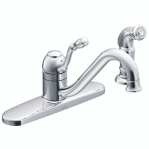 Moen CA87009 Lindley Single Handle Kitchen Faucet With Side Spray Chrome