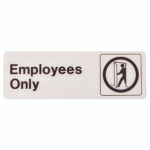 Hy Ko D-2 3 Inch By 9 Inch Deco Designer Graphic Sign Employees Only
