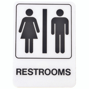 Hy Ko D-23 5 Inch By 7 Inch Deco Designer Graphic Sign Restrooms