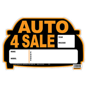 Hy Ko 22121 9 Inch By 14 Inch Auto For Sale Sign