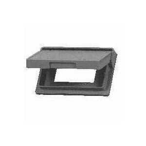 Cooper Wiring 1966-SP 1 Gang GFCI And Rocker Receptacle Outlet Weatherproof Cover Metal