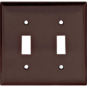 Cooper Wiring 2139B-BOX 2 Gang Toggle Switch Wall Plate Brown