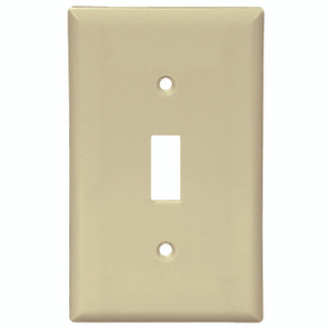 Cooper Wiring 2134A-BOX 1 Gang Standard Toggle Wall Plate Almond