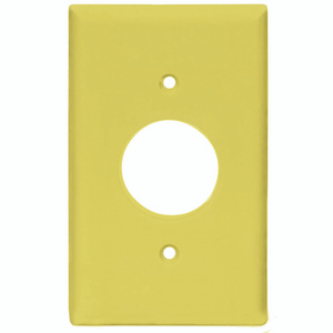 Cooper Wiring PJ7V 1 Gang Mid Size Single Receptacle Plate Smooth Line Ivory