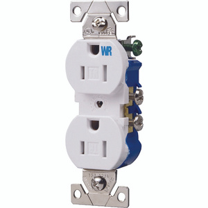 Cooper Wiring TWR270W Tamper And Weather Resistant Duplex Receptacle 15A White