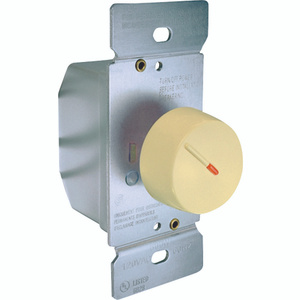 Cooper Wiring RI306PL-V-K Rotary Dimmer With Preset Ivory