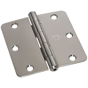 Stanley National S083-930 3-1/2 Inch Classic Bright Stainless Steel Door Hinge With 1/4 Inch Radius Pack Of 2