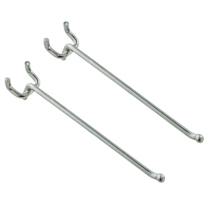 Stanley National S819-645 Stanley 6 Inch Heavy Duty Straight 1/4 Inch Pegboard Hook Pack Of 2